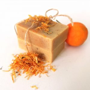 Jabón Artesanal de Caléndula y Naranja