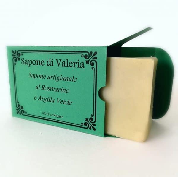 Jabón natural de romero y arcilla verde para acné
