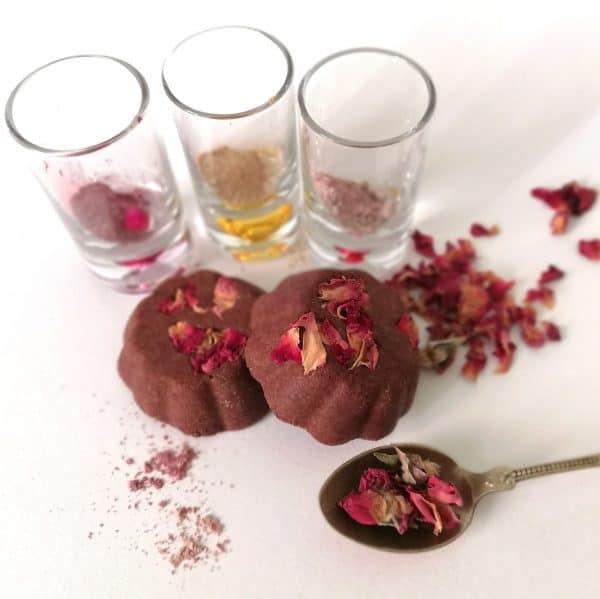 Champú sólido natural de Rosa ayurveda por SaponediValeria
