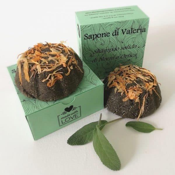 Champú sólido de Ortiga para cabello graso casero por SaponediValeria