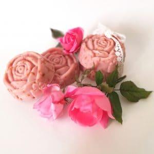 Jabón de Rosa Mosqueta realizado de forma artesanal e ingredientes naturales