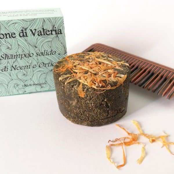 Champú sólido cabello graso de Ortiga y Neem regula y fortalece