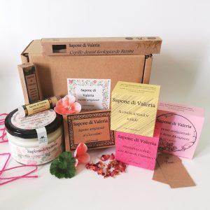 Set de baño para regalo personalizable con jabones naturales