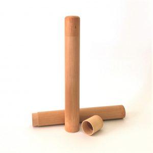Estuches de bambú para transportar o guardar el cepillo