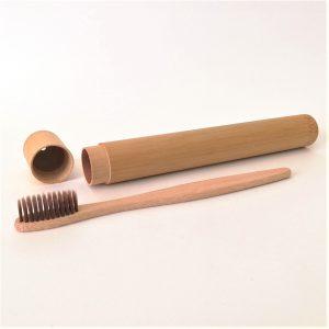 Estuche de bambú para cepillo de dientes