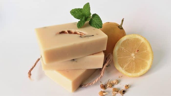 jabón natural menta limón artesanal
