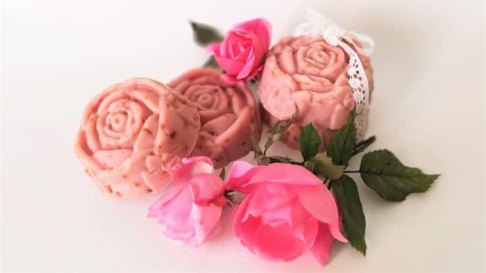 jabón rosa mosqueta artesanal casero