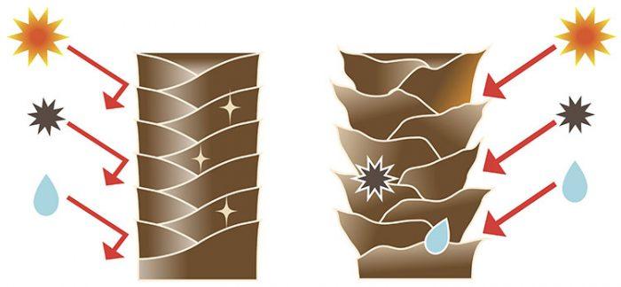 pH productos cutícula cabello