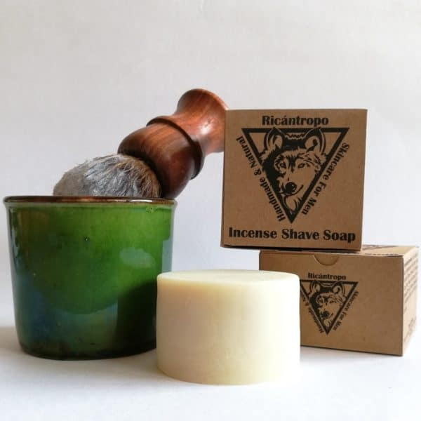 Jabón afeitar natural brocha ecologico